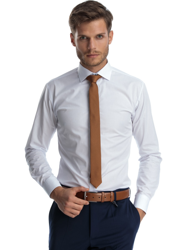 Camasa clasica alba slim fit Tall