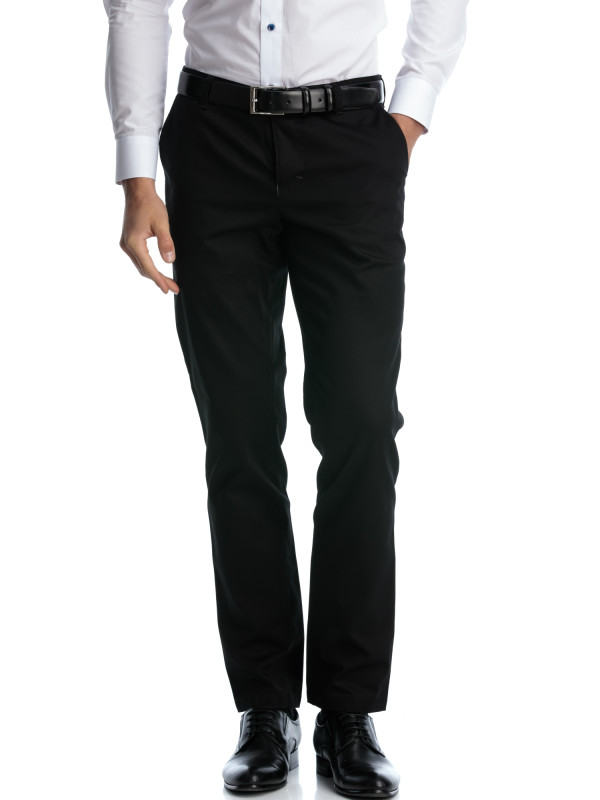 Pantaloni casual negru slim fit
