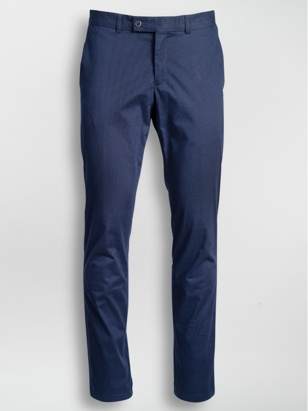 Pantaloni casual slim fit bleumarin