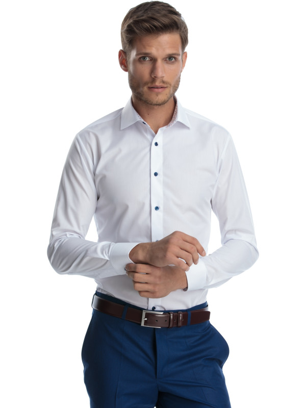 Camasa alba office slim fit