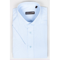 Camasa bleu 2XL-4XL maneca scurta regular