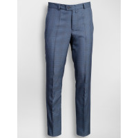 Pantaloni in carouri bleumarin slim fit