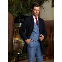 Palton bleumarin slim fit