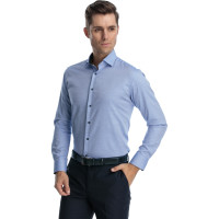 Camasa albastra model in tesatura slim fit