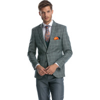 Costum vernil slim fit cu vesta