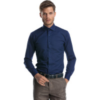 Camasa barbati bleumarin slim fit