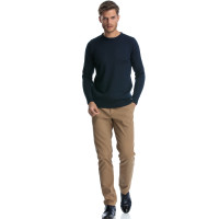 Pulover bleumarin slim fit